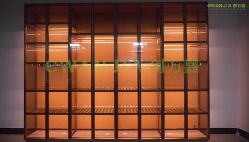 创万嘉轻奢极简玻璃酒柜安装步骤