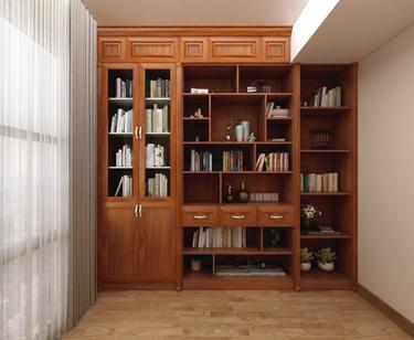 全铝书柜-欧式效果图9